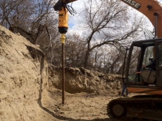 Screw pile installation